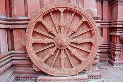 Chariot wheel. Sun temple chariot wheel photo background Stock Photography