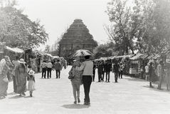 Sun Temple Konark, a couple walking towards the temple Stock Photo