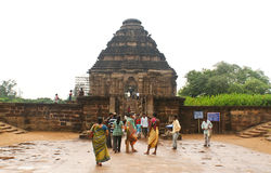 Sun Temple at Konark in Eastern India. The ancient Sun Temple, also called as Black Pagoda, is a popular tourist spot in the Eastern India province of Orissa.It Stock Image