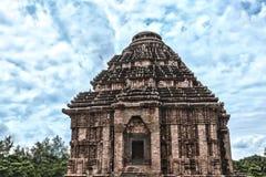 The Sun Temple at Konark. HDR - The ancient sun temple at Konark, India Royalty Free Stock Photography