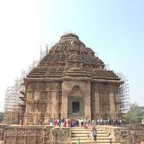 The Sun Temple at Konark in the state of Odisha. The majestic and ancient Sun Temple at Konark, Odisha, the epitome of art and architectur Stock Image