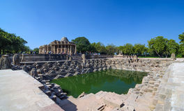 Sun Temple Modhera with Beautiful Stepwell in Ahmedabad Royalty Free Stock Photography