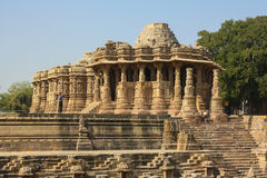 Sun temple, Modhera, India. Hinduism is the religion of the majority of people in India and Nepal. It also exists among significant populations outside of the Royalty Free Stock Photo