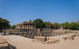 Sun Temple Modhera with Stepwell in Ahmedabad Stock Images