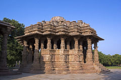 Sun Temple, Modhera Stock Images