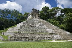 The sun temple at Palenque in Chiapas, Mexic Royalty Free Stock Photography