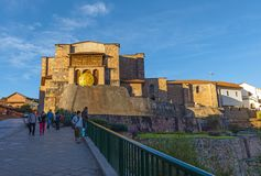 Qorikancha Sun Temple in Cusco, Peru stock images