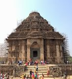 UNESCO world heritage, Sun Temple, at Konark, Odisha. The Sun Temple is an UNESCO world heritage located in the coastal town of Konark, Odisha Royalty Free Stock Photos