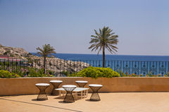 Sun Terrace Overlooking the Sea Royalty Free Stock Photo