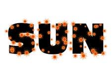 Sun text Stock Images