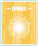 Sun with text Summer, retro style Royalty Free Stock Image