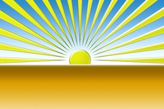 Sun texture. Computer generated sunset or sunrise Royalty Free Stock Photos
