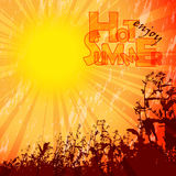 Sun theme enjoy Royalty Free Stock Photos