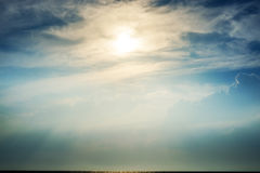 Sun in thick clouds Stock Photography