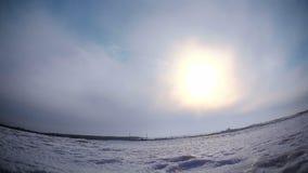 Sun timelapse stock footage