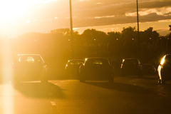 Sun's rays striking the windshield - DANGER ! Royalty Free Stock Photography
