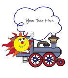 Sun and train Royalty Free Stock Image