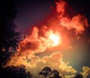 Sun a través de las nubes Imagen de archivo