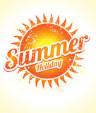 The sun from triangles with a stylish inscription summer holiday Royalty Free Stock Photo