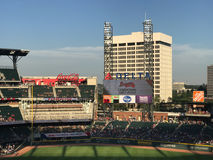 Sun Trust Park, Atlanta, GA. Field view of brand new Sun Trust Park. Home of the Atlanta Braves stock image