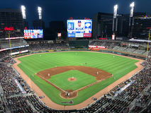 Sun Trust Park. At dusk. Brand new home of the Atlanta Braves royalty free stock photo