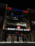 Sun Trust Park, Right Field Gate. Sun Trust Park entrance from right field side. Brand new home of the Atlanta Braves stock photo