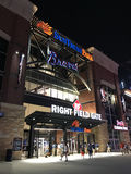 Sun Trust Park, Right Field Gate. Sun Trust Park entrance from right field side. Brand new home of the Atlanta Braves stock images