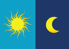 Sun u. Mond stock abbildung