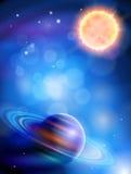 Sun u. Saturn Lizenzfreies Stockbild