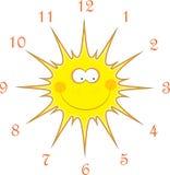 Sun-Uhren, Abbildung stock abbildung
