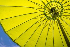 Green-Yellow sun shade Stock Photos