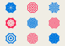 Sun umbrella icons Royalty Free Stock Photos