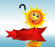Sun in an umbrella Royalty Free Stock Photography