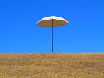 Garden parasol on hilltop  Stock Photos