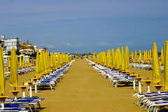 Sun umbrellas. In the italian beach Royalty Free Stock Image