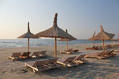 Sun umbrellas Stock Images