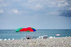 Sun umbrellas Royalty Free Stock Image