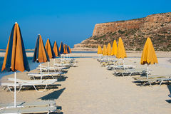 Empty beach in Balos Lagoon (Gramvousa) on Crete Royalty Free Stock Images