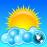 Sun und Erde Lizenzfreies Stockfoto