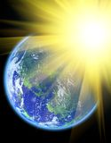 Sun und Erde Stockfotografie