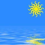 Sun und Meer vektor abbildung