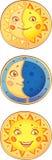 Sun und Mond. Lizenzfreies Stockfoto