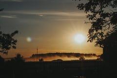 Sun und Rauch Stockfoto