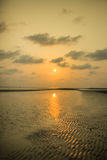 Sun- und Reflexionsland Stockfoto