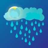 Sun und Regen Stockbild