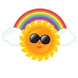 Sun und Regenbogen Stockfotos