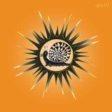 Sun und Schnecke ein Bild Lizenzfreie Stockfotos