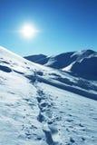 Sun und Schnee Stockbild