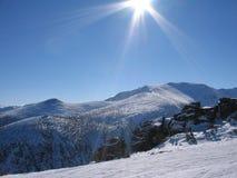 Sun und Schnee Lizenzfreies Stockfoto