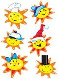 Sun und Schutzkappe Stockbilder